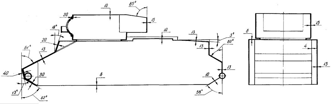 Схема бронирования танка БТ-2
